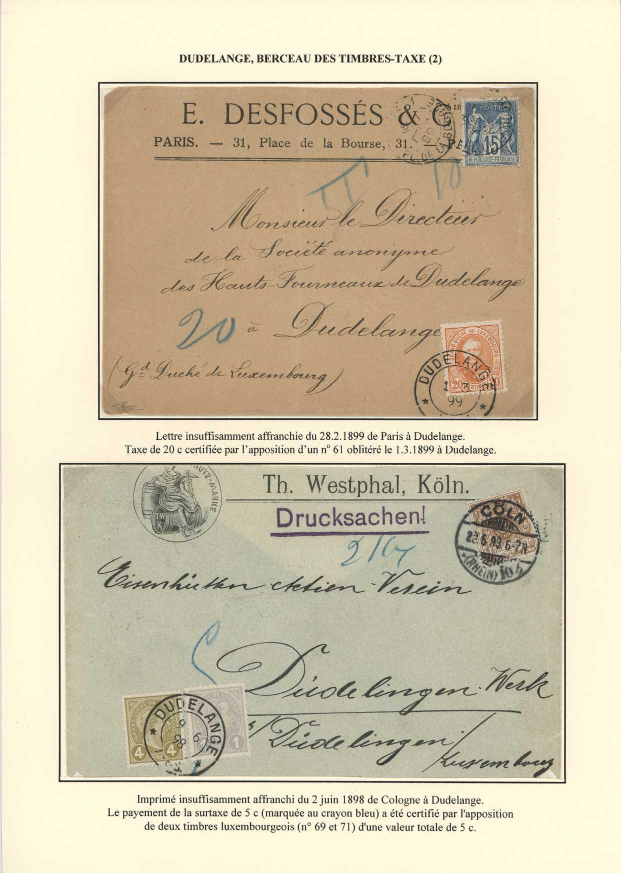 Postgeschichte Düdelingens 1